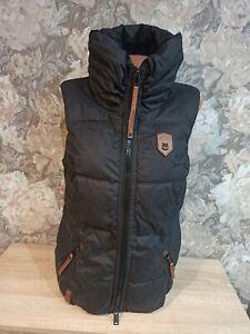 Naketano Women's winter  jacket vest black color size M