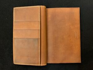 Original Hermes Leder Karten Etui Braun Portemonnaie Card Holder Vintage