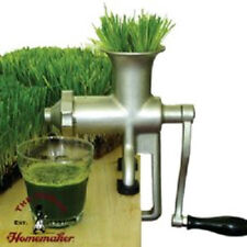 LIGHTLY USED Miracle Stainless Steel Manual Wheatgrass Juicer MJ445 Pulp Eject