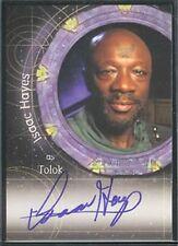 Stargate SG-1 Season 8 Autograph Auto A73 Isaac Hayes Tolok