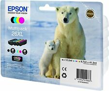 EPSON T2636 26XL ORIGINAL SET OF 4 TINTA OSO POLAR T2621 T2632 T2633 T2634