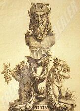 Silène & puttis THOUVENIN JC DELAFOSSE GRAVURE EAU-FORTE & BURIN 27x14cm