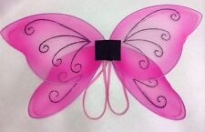 Butterfly Wings Pink Small Childs Glitter Arm Elastics