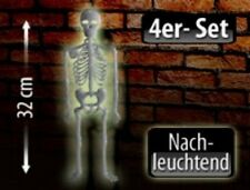 "Nachleuchtendes Halloween Deko-Skelett ""Spooky Bones"" 32 cm | 4er-Set Helloween"