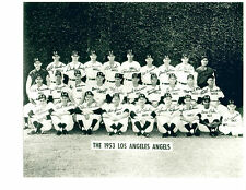 1953 LOS ANGELES ANGELS TEAM 8X10 PHOTO BAKER  BASEBALL CALIFORNIA USA