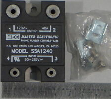 Master Electronic Controls SSA1240 Relay SSR 8.5mA 280VAC-IN 25A 280VAC-OUT NEW-