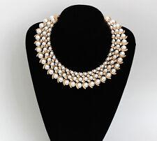 Vintage Gold Gp perlas de imitación cristal de Estrás Gargantilla Gruesa Babero Collar collar