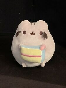 "Pusheen 5"" Plush Toy Kitty Cat Doll with Cake Gund 4059126 - 2017"