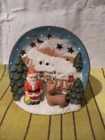 Decoration de Noel ceramique a poser  - scene de noel pere Noel