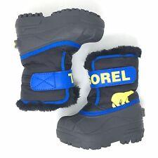 Sorel Snow Commander Insulation 200g Shearling Fleece Winter Boots Sz 6 Toddler