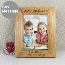 Personalised Grandparents Wooden 7x5 Photo Frame Great Gift for Nan & Grandad