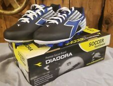 Diadora Ladro MD Jr Athletic Shoes, Youth Size 5.5 Black Blue White SHIPS FREE