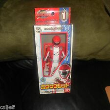 POWER RANGER RED FIGURE & BOX BANDAI RESSHA SENTAI TOKKYUGER HERO SERIES 1 JAPAN