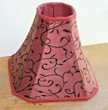 Dale Tiffany Fabric Red w Black Embroidery Lamp Shade Vine pattern & Braded Trim