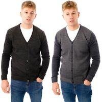Mens Button Up Cardigan Knitted V-Neck Designer Sweater Long Sleeve Jumper Slim