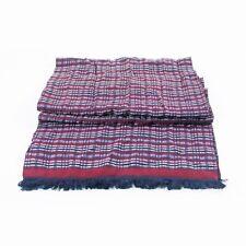 Hugo Boss Burgundy Stripe Silk Blend Pelico Scarf 9462