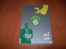 SEATTLE SUPERSONICS 01/02 NBA MEDIA GUIDE