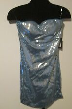 Ruby Rox NEW Blue/Silver Sequined  Mini Formal Cocktail Dress Juniors Size MED