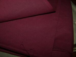 Tissu Toile Coton Vintage Bordeaux Lie de Vin Patchwork Quiltage  220 x 240  XZO