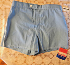 vintage CATALINA California USA Hull Blue & White Swim Trunks Size 34 NOS NWT