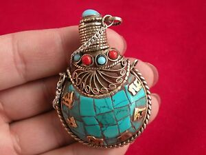 Chinese old in Tibetan turquoise snuff bottle