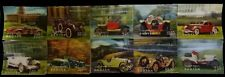 BHUTAN 3-D, 10 Different Cars-Plastic Surfaced Stamps-MNH