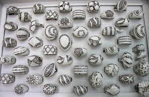 Newest mixed Lots 26pcs pretty rhinestone white enamel lady's rings AH186