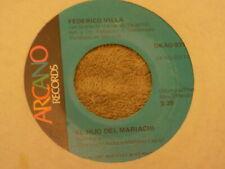 """FEDERICO VILLA w/ MARIACHI VARGAS El Hijo Del Mariachi / La Rosa Negra 7"""" 45"""