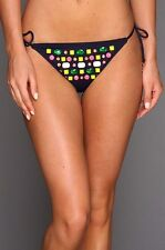 NWT $94 JUICY COUTURE JEWEL FLIRT STRING  SWIMSUIT BOTTOM ONLY,  SIZE MEDIUM