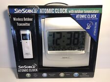 SkyScan Atomic Clock W/ Outdoor Temperature & Wireless Outdoor Transmitter 86709