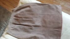 Ladies Brown Suede Skirt & Brown Butter Soft Leather Pants Size 8