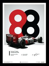 McLaren MP4/4 Ayrton Senna 1988 San Marino GP F1 Marlboro Art Print Poster