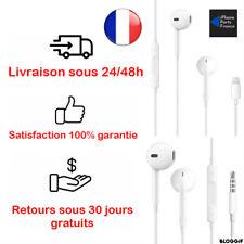 Ecouteurs iPhone 4 4S 5 5S 5C SE 6 6+ 6S 6S+ 7 7+ 8 8+ Neuf identique origine