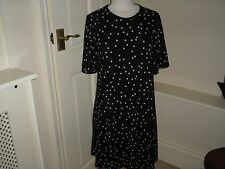 M&S SMART POLKA DOT FLATTERING DRESS NEW WITH TAGS