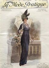 MODE PRATIQUE June 1st,1912 + sewing patterns - Costumes, dresses ...