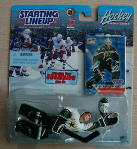 2000/01 ED BELFOUR SLU Starting LineUp GOALIE figure Dallas Stars NHL moc Dakota