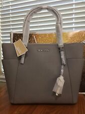 NWT Michael Kors Jet Set Item Pearl Grey Lg Ew Tz Tote Color Sold-Out Everywhere