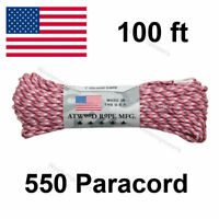 100 ft 550 Paracord 7 Strand Parachute Cord Mil Spec Type III  100' Core
