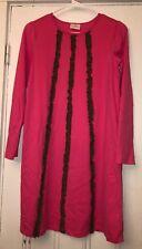Hanna Andersson Girls Pink Brown Ruffled Dress Sz 160 US 14