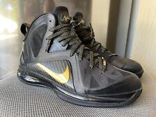 Nike Lebron 9 IX Elite Black Gold Size 10