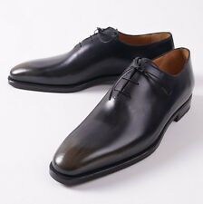 NIB $1295 SUTOR MANTELLASSI Antique Navy Calf Leather Wholecut US 15 D Shoes