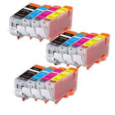 12 Pack Ink Combo Set for PGI-5BK CLI-8 Canon Pixma IP3300 IP3500 MX700 MP510
