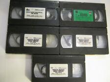 Vintage Teenage Mutant Ninja Turtles 5 VHS Tapes-Two Full Movies & 3 TV Episodes