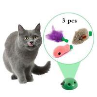 Elektronisch Haustier Spielzeug Interaktive Katzenspielzeug Zubehör Feder+2 Maus