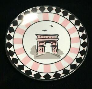 Arc de Triomphe Trinket Dish Paris France Pink and Black