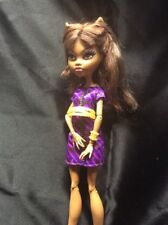 MONSTER HIGH COFFIN BEAN CREEPY COOL COFFEE HOUSE Just CLAWDEEN WOLF DOLL