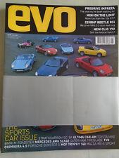 Evo No 33 Jul 2001 Prodrive Impreza, Beetle RSi, Clio 172,  Cooper vs 106 GTi