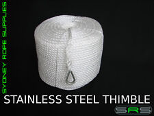 220MTRS X 10MM HIGH STRENGTH ANCHOR ROPE WITH STAINLESS STEEL THIMBLE