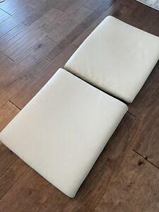 2 Poang Ikea Leather Beige Cream Ottomans