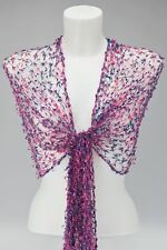 Viola Rosa Net Sciarpa / Scialle / Avvolgere cobweb mesh WEDDING Fair Trade VISCOSA NUOVA